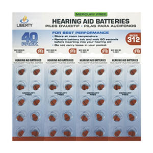 Liberty Hearing Aid Battery #312 (40 ct.)