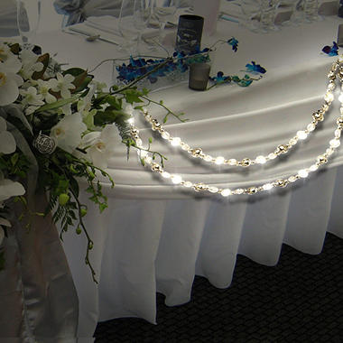 LED Cold White Beaded 9 ft. Garland - 2 pk.