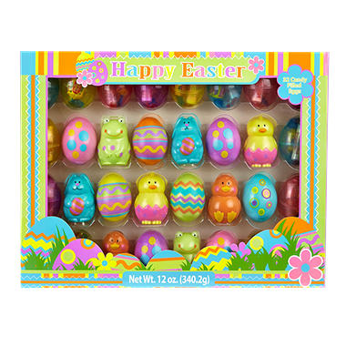 Candy Filled Easter Eggs - Assorted Designs - 32 ct.