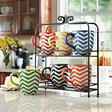 7 pc. Mug Set with Stand - Chevron Print