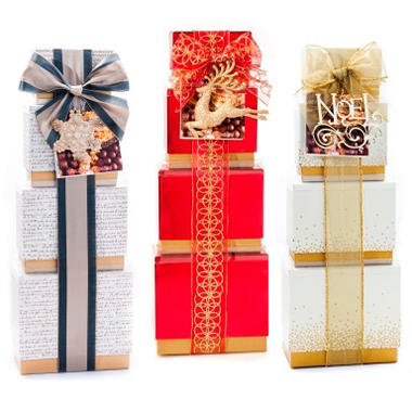 Gourment Sweet Treats Tower Gift Set - 26.4 oz. (Choose your Color)