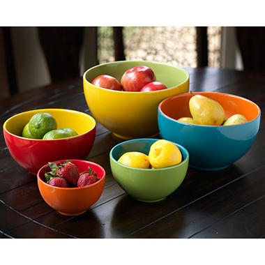 Colorblock Mixing Bowl Set - 5 pcs.