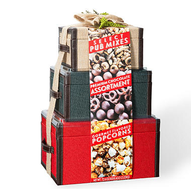 Snack Stack Tower With 3 Fabric Boxes