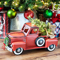 Member's Mark Red Holiday Vintage Metal Truck with Lighted Accents
