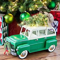 Member's Mark Holiday Vintage Green Car with Lighted Accents