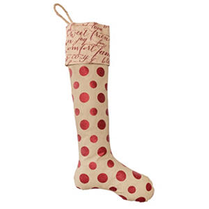 "Member's Mark 40"" Holiday Stocking with Dots"