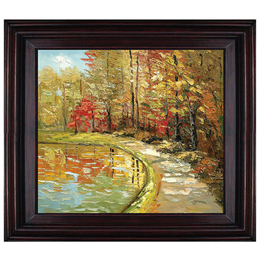 Framed Hand Painted Oil Art - Foliage
