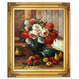 "Framed Hand Painted Oil Art - ""Vase of Flowers"""