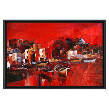 """Framed Hand Painted Oil Art - """"Red Sea"""""""