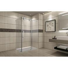 Aston Warwick Sliding Shower Enclosure (Stainless Steel Finish)