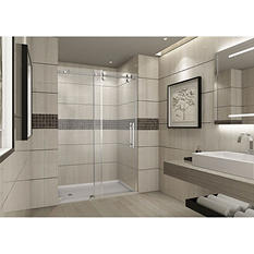 Aston Warwick Sliding Shower Door (Stainless Steel Finish)