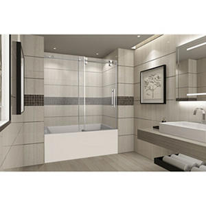 Aston Warwick Sliding Tub Door (Stainless Steel Finish)