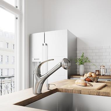 VIGO Stainless Steel Pull-Out Spray Kitchen  VG02011ST