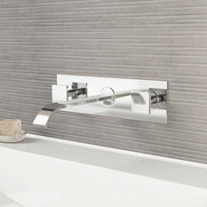 VIGO Titus Chrome Finish Dual Lever Wall Mount Faucet