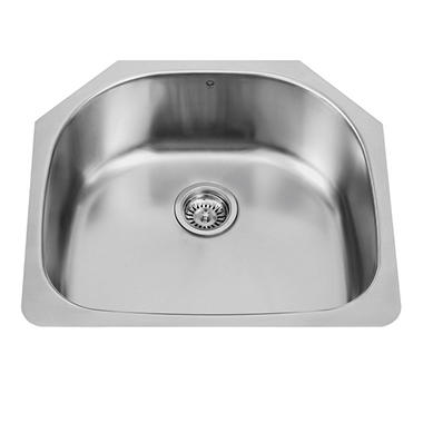 Vigo 24 Undermount Stainless Steel 18 Gauge Single Bowl