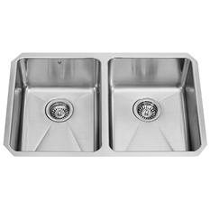 "VIGO 29"" Undermount Stainless Steel 16 Gauge Double Bowl Kitchen Sink"