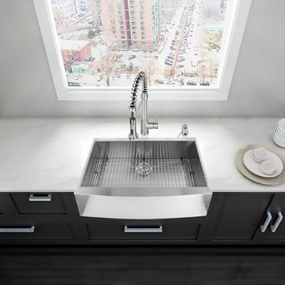 """VIGO 30"""" Farmhouse Stainless Steel 16 Gauge Single Bowl Kitchen Sink"""