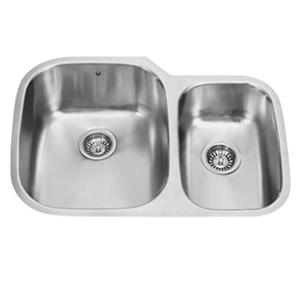 "VIGO 30"" Undermount Stainless Steel 18 Gauge Double Bowl Kitchen Sink"