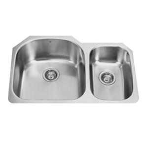 "VIGO 31"" Undermount Stainless Steel 18 Gauge Double Bowl Kitchen Sink"