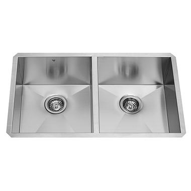 Vigo 32 Undermount Stainless Steel 16 Gauge Double Bowl