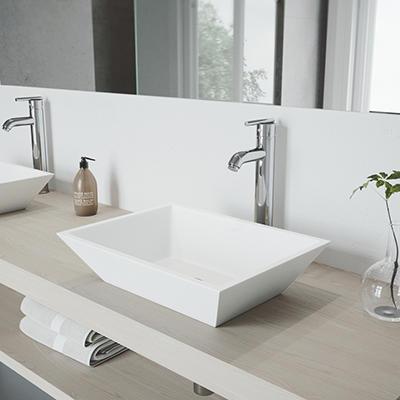 VIGO Bathroom Vessel Faucet, Chrome Finish