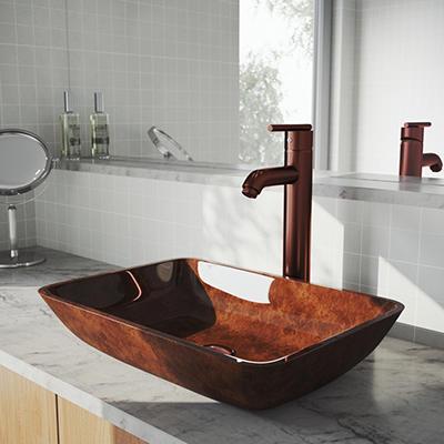 VIGO Bathroom Vessel Faucet, Oil Rubbed Bronze