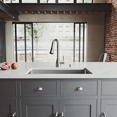 VIGO Undermount Stainless Steel Kitchen Sink, Faucet, Colander, Grid, Strainer and Dispenser (Save Now)