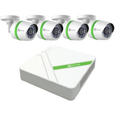 EZVIZ 4 Channel 1080p HD Security System with 1TB HDD, 4 1080p Weatherproof Bullet Cameras, and 100' Night Vision
