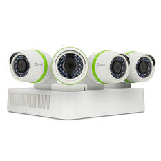 EZVIZ 4 Channel 720p HD Security System with 1TB Hard Drive, 4 720p Weatherproof Bullet Cameras, and 100' Night Vision