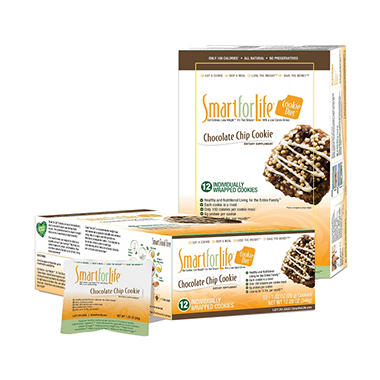Smart for Life Cookie Diet Meal Replacements - Chocolate Chip - 12 ct.