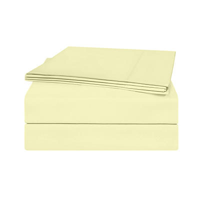Pima Cotton 820 Thread Count 4-Piece Sheet Set, Ivory (Queen)