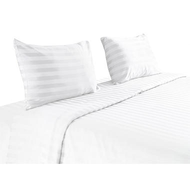 100% Pima Cotton 820 Thread Count 4 Piece Sheet Set -  King (White)