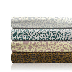 350 Thread Count Cotton Sateen Animal Printed 3-Piece Sheet Set - Various Sizes & Colors