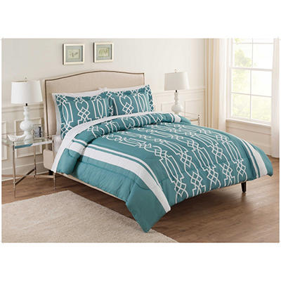 Ellen Tracy Corin 3-Piece Comforter Set - Queen