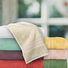 100% Egyptian cotton Loops 12-Piece Towel Set - Various Colors