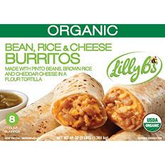 Lilly B's Organic Bean, Rice, & Cheese Burritos (48 oz., 8 ct.)