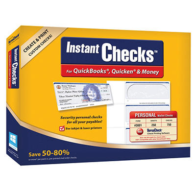 Instant Checks - Personal Wallet - Blue 250 pk.