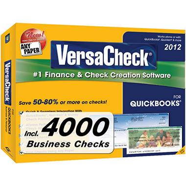 VersaCheck? 2012 for QuickBooks? + 4000 Business Checks