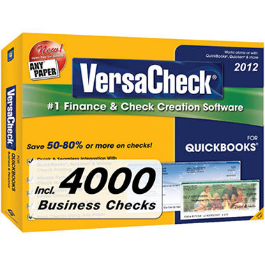VersaCheck? 2012 for QuickBooks? + 4000 Business Checks