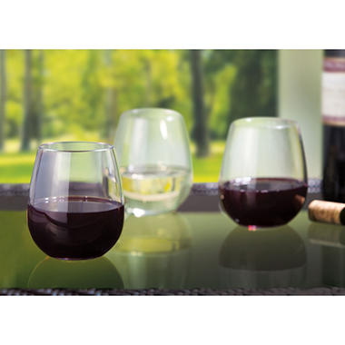 Stemless Tritan Wine Glasses