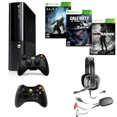 Xbox 360 250GB System with Call of Duty: Ghosts, Extra Controller and Headset