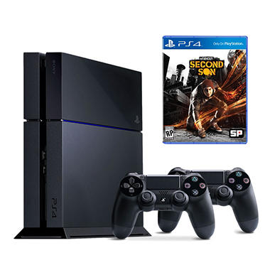 PlayStation 4 Console Bundle w/ Extra Controller and InFAMOUS: Second Son
