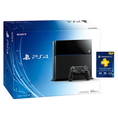 PS4 Console with PlayStation Plus Card
