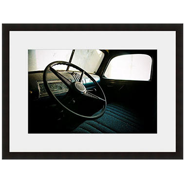 Framed Fine Art Photography - Behind The Wheel by Tracy Carlson