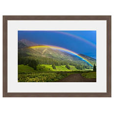 Framed Fine Art Photography - Mountainside Rainbow By Blaine Harrington