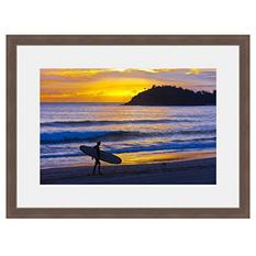 Framed Fine Art Photography - Sunset Surfer By Blaine Harrington