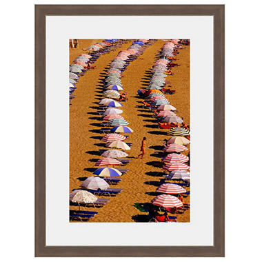 Framed Fine Art Photography - Beach Umbrella Mosaic By Blaine Harrington