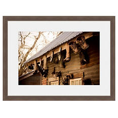 Framed Fine Art Photography - Boots on the Roof by Tracy Carlson