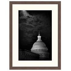 Framed Fine Art Photography - Moonlit Capitol by Vincent Versace