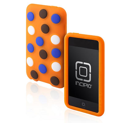 Incipio iPod touch 2G dotties Silicone Case- Orange
